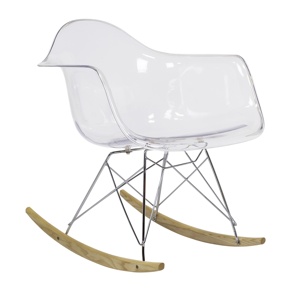 Fine Charles Eames Style Rar Rocker Clear The Khazana Home Austin Furniture Store Unemploymentrelief Wooden Chair Designs For Living Room Unemploymentrelieforg