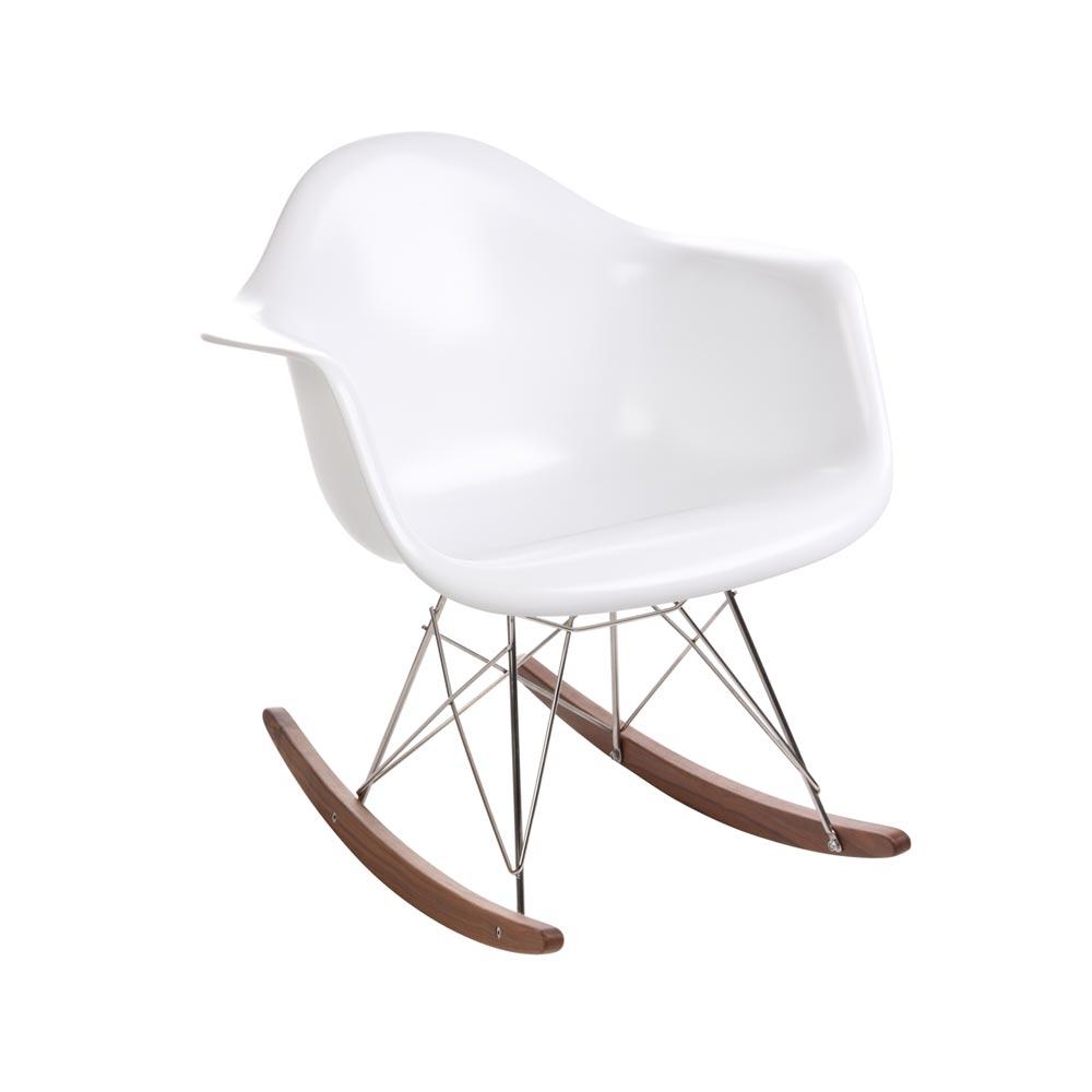 Charles Eames Style RAR Rocker, White