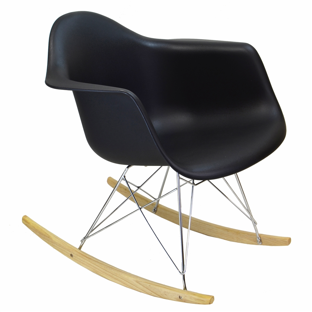 Charles Eames Style Rar Rocker Black Larger Photo Email A Friend