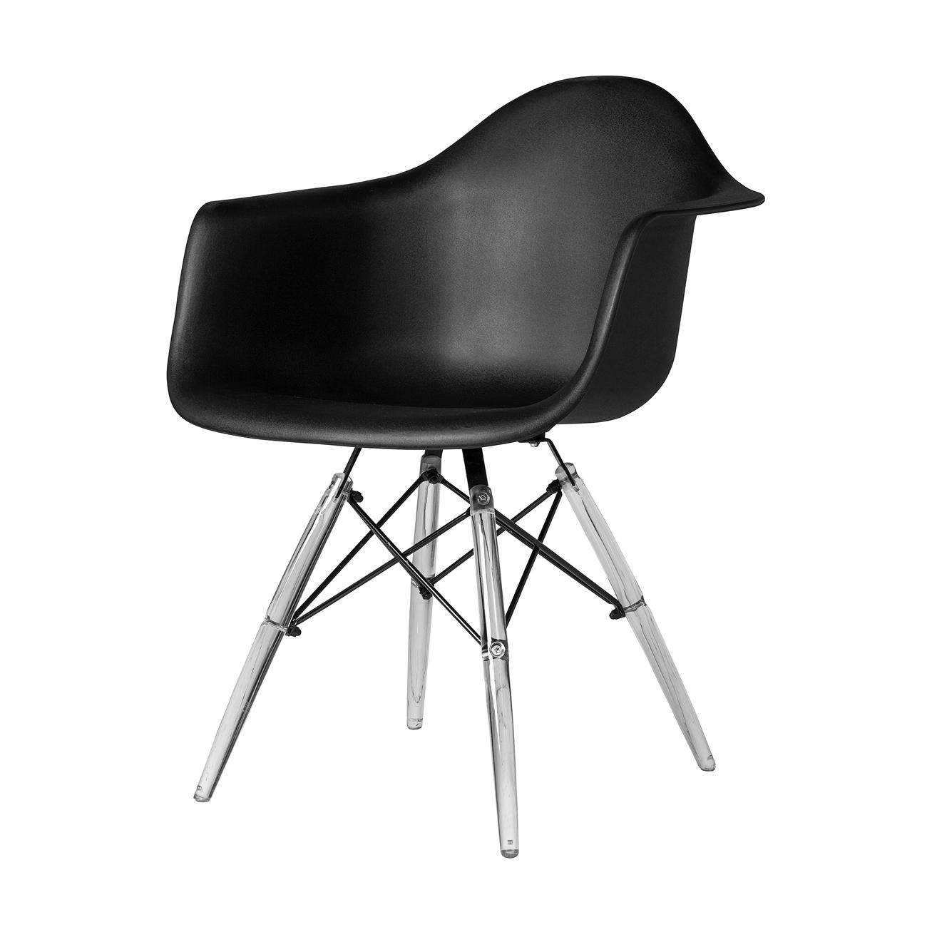 Charles Eames DAW Style Arm Chair - Black Seat and Legs  sc 1 st  The Khazana & Charles Eames DAW Style Arm Chair - Black Seat and Legs The Khazana ...