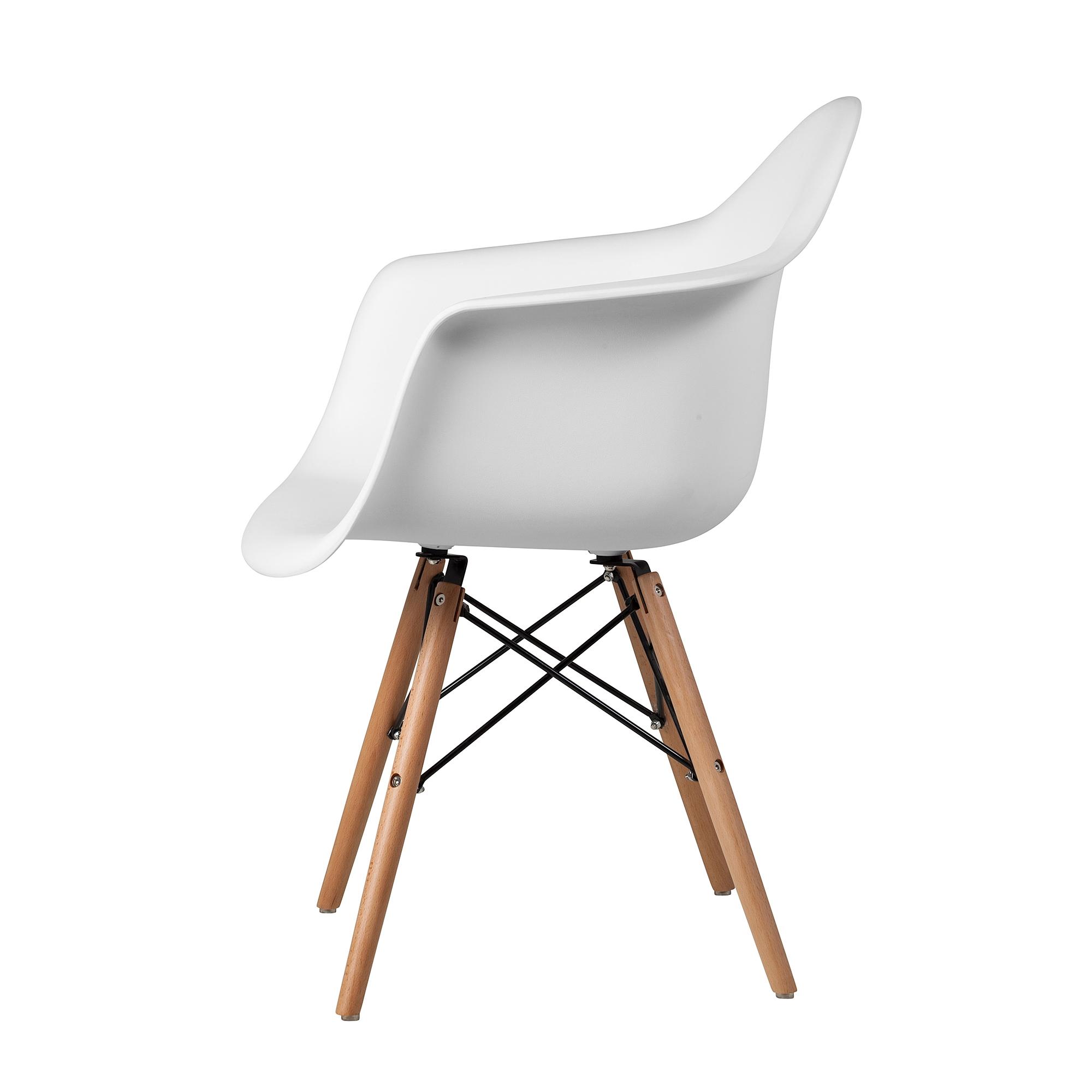 Superieur Charles Eames Style DAW Arm Chair, White ABS Plastic