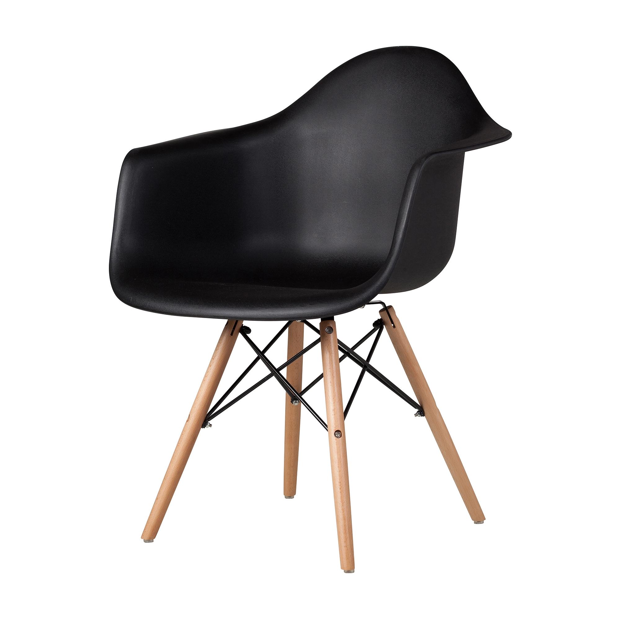 Kitchen Eames Arm Chair in Black, The Khazana Home Austin Furniture ...
