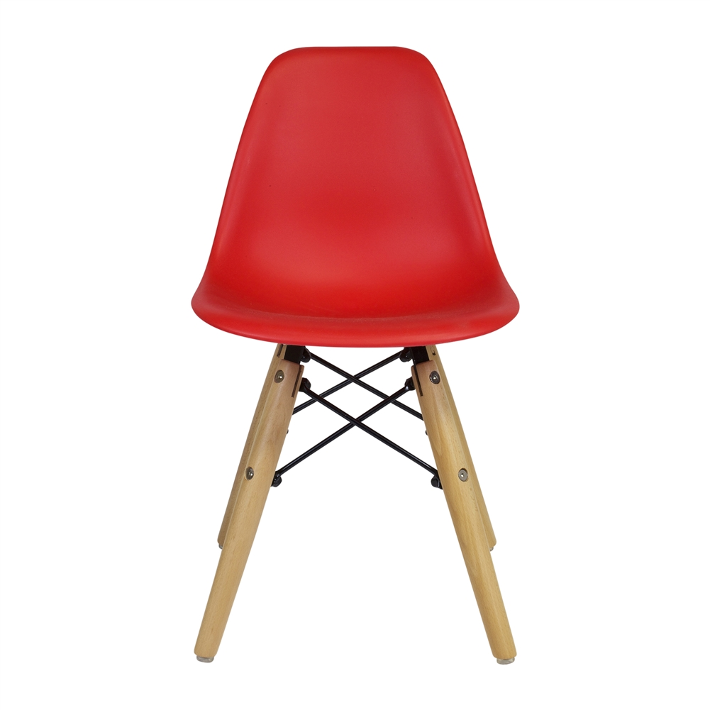 Admirable Molded Mid Century Kiddie Side Chair Red Beatyapartments Chair Design Images Beatyapartmentscom