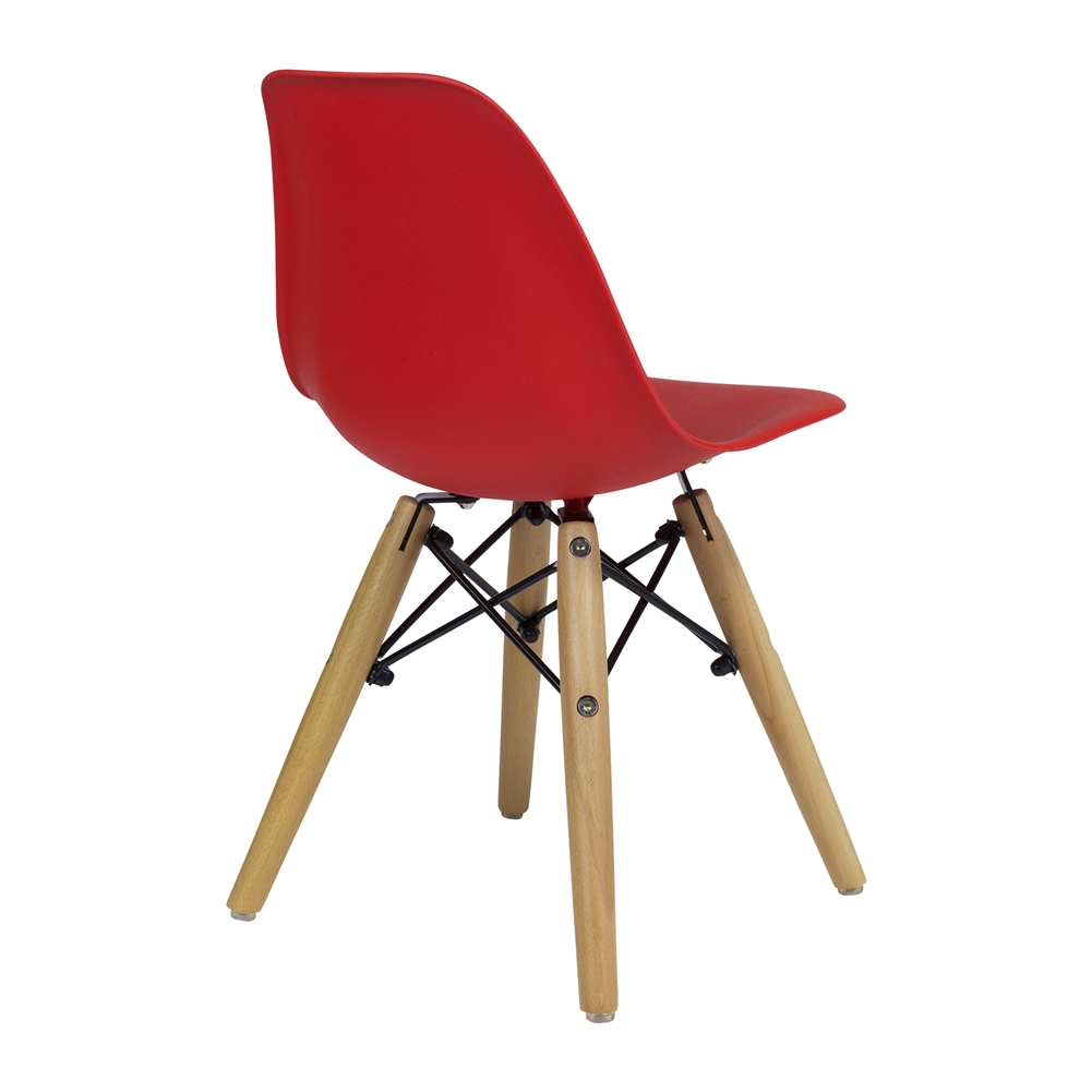 charles eames dsw kids side chair mid century modern red the