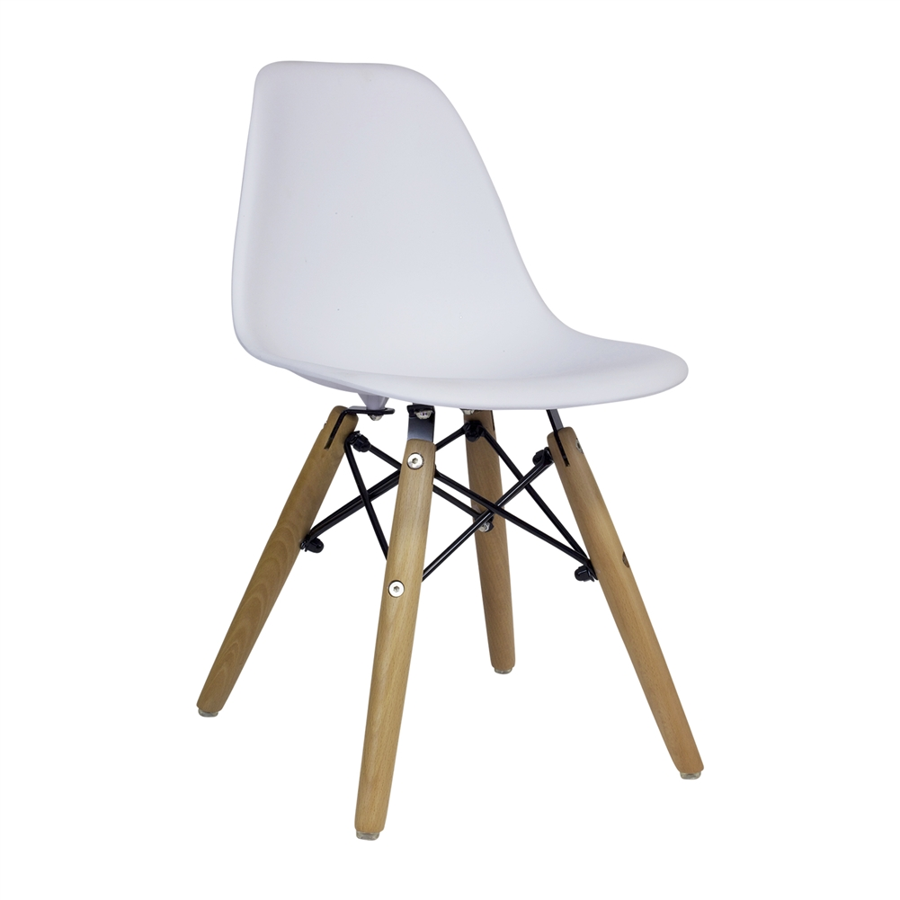 charles eames dsw kids side chair mid century modern white the