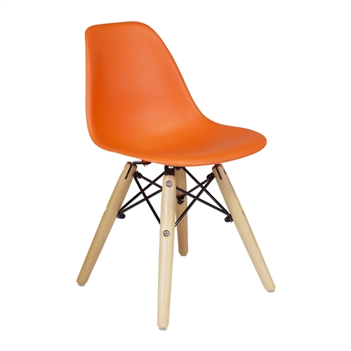 Charles Eames DSW Kiddie Side Chair Orange