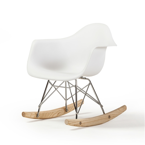 Charles Eames RAR Children's Rocking Chair in White