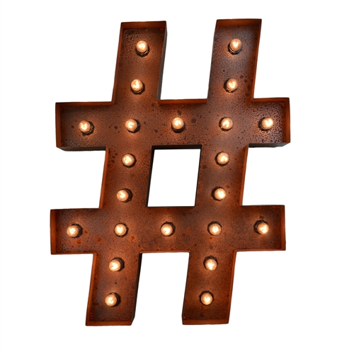 "24"" # ""Hashtag"" Marquee Sign"