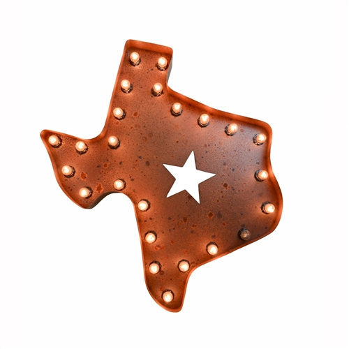 "24"" Texas Marquee Sign"