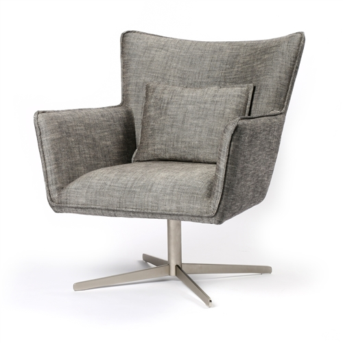 Jacob Swivel Chair in Raven