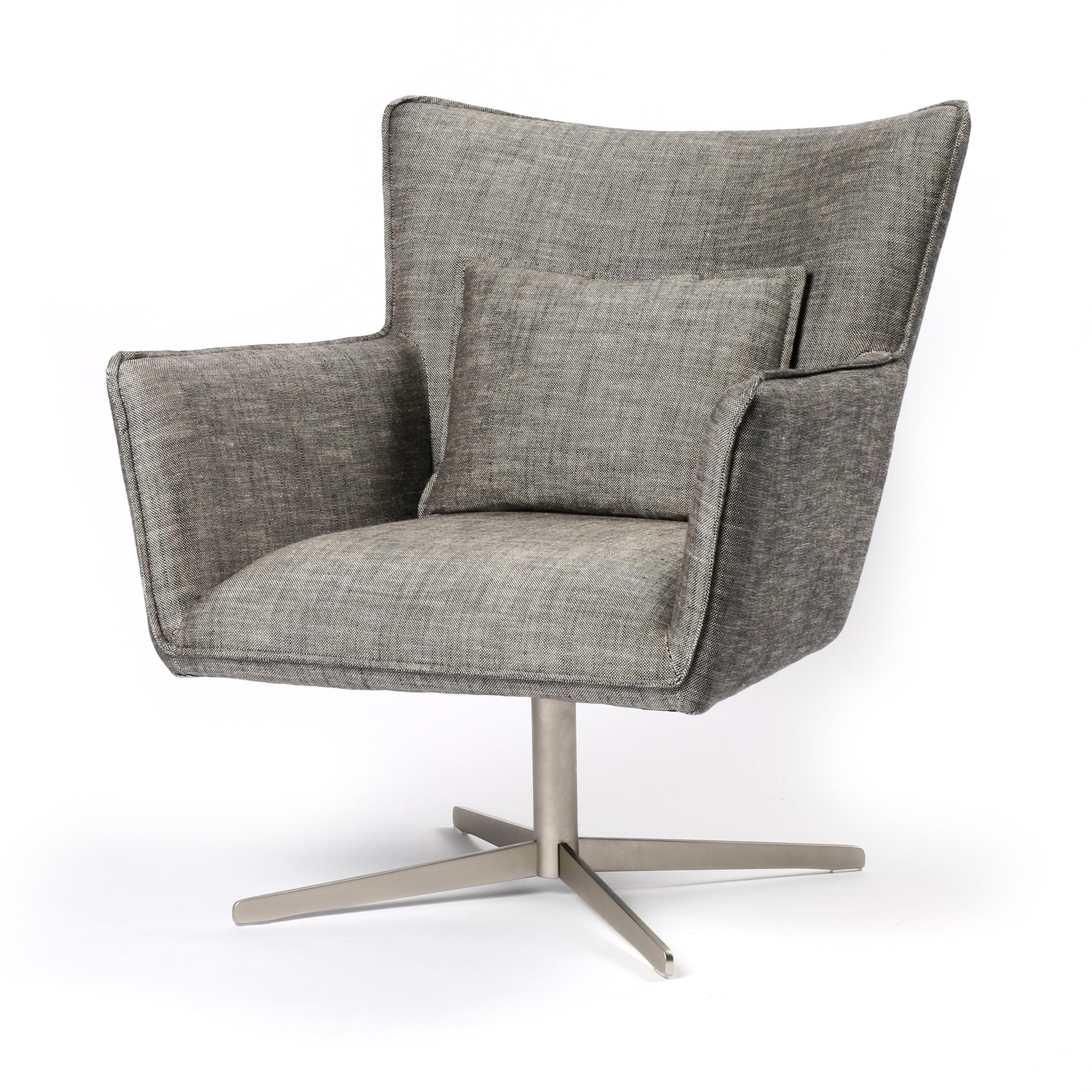 Jacob swivel chair in raven the khazana home austin furniture store