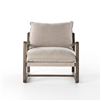 Abbott Ace Chair Wood Frame in Cobblestone Jute