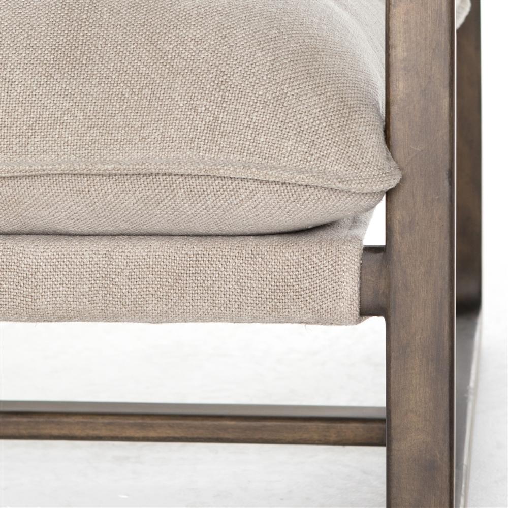 Abbott Ace Chair Wood Frame In Cobblestone Jute
