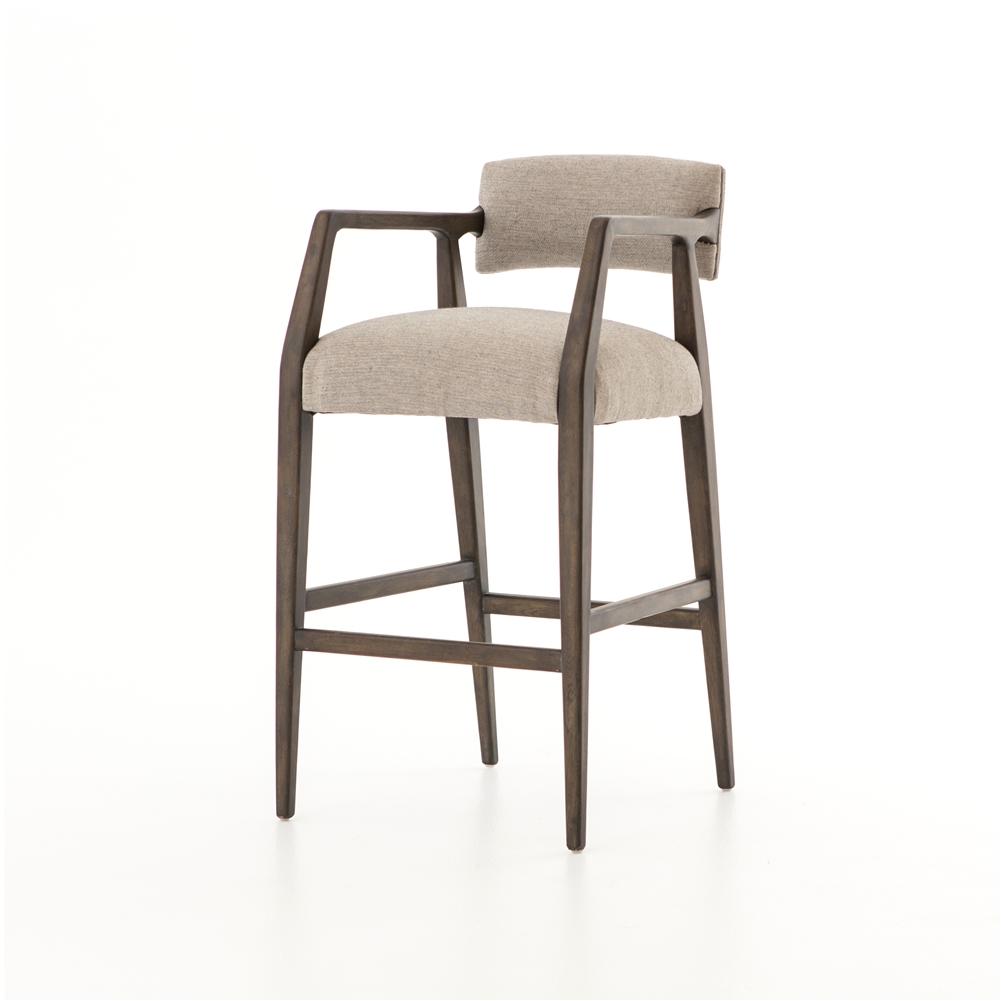 abbott tyler bar stool in ives white grey
