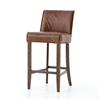 Ashford Aria Barstool in Brown Leather
