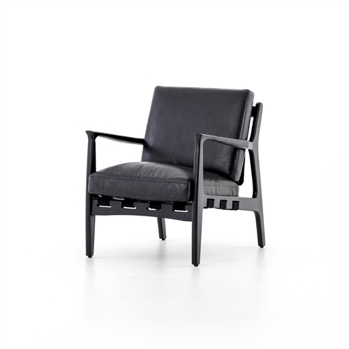 Bishop Silas Chair in Aged Black