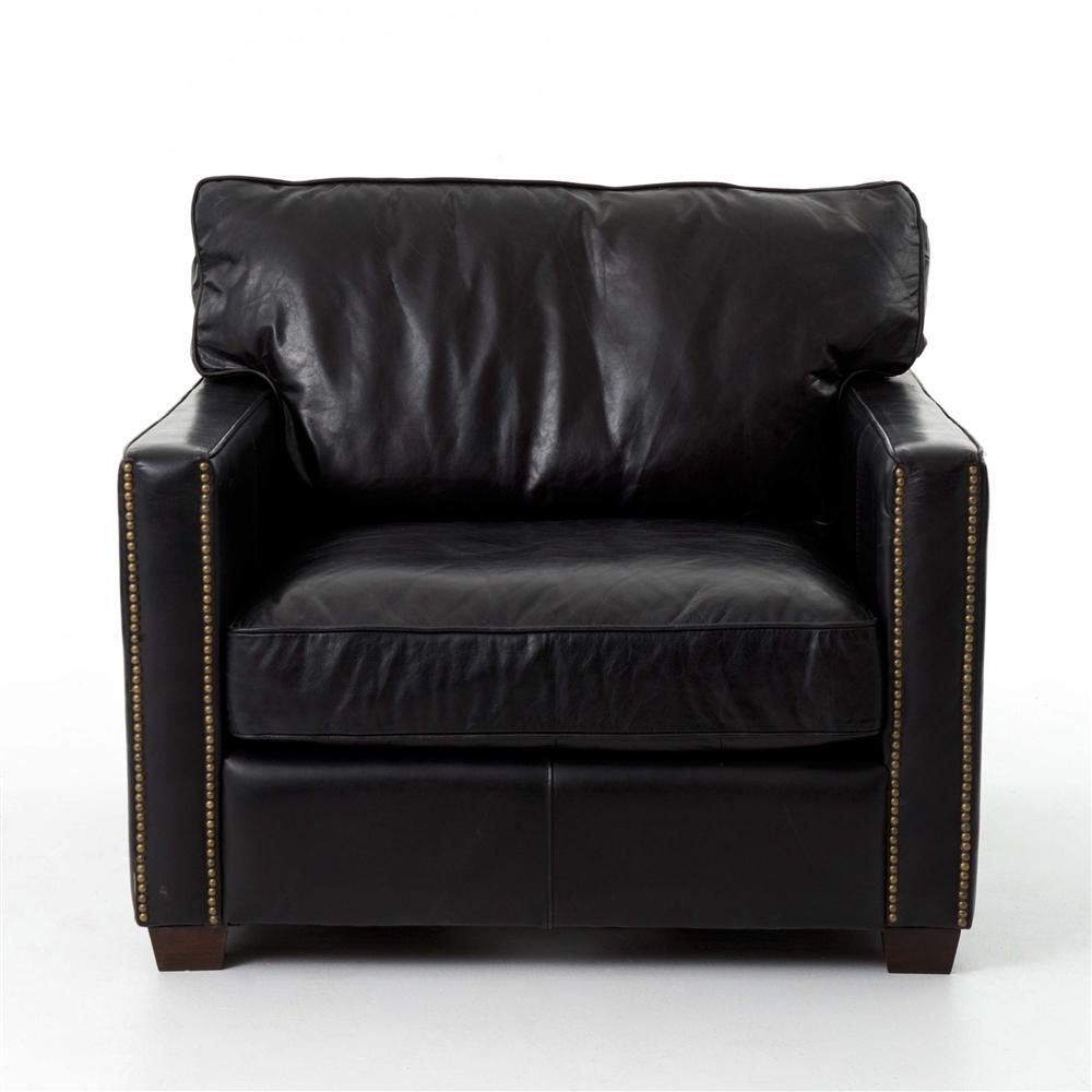 Superior Carnegie Larkin Club Chair   Old Saddle Black