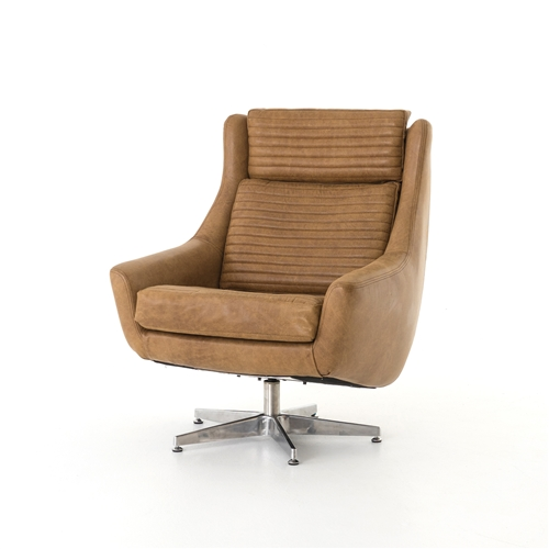 Carnegie Charles Swivel Chair-Pampus Nut