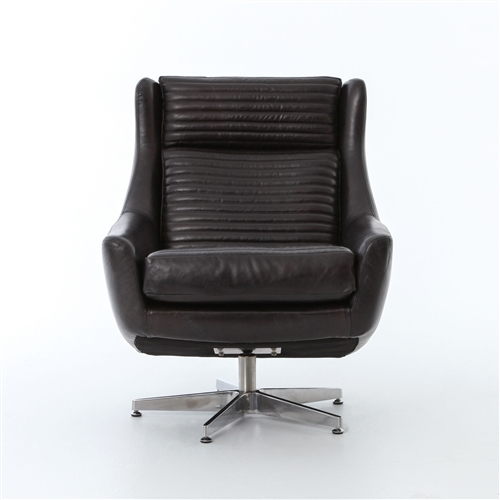 Carnegie Charles Swivel Chair-Rider Black