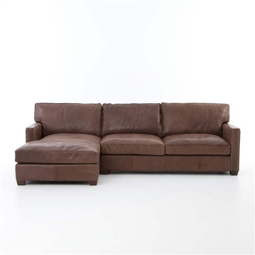 "Carnegie Larkin 88"" Sectional Sioux Tobacco"