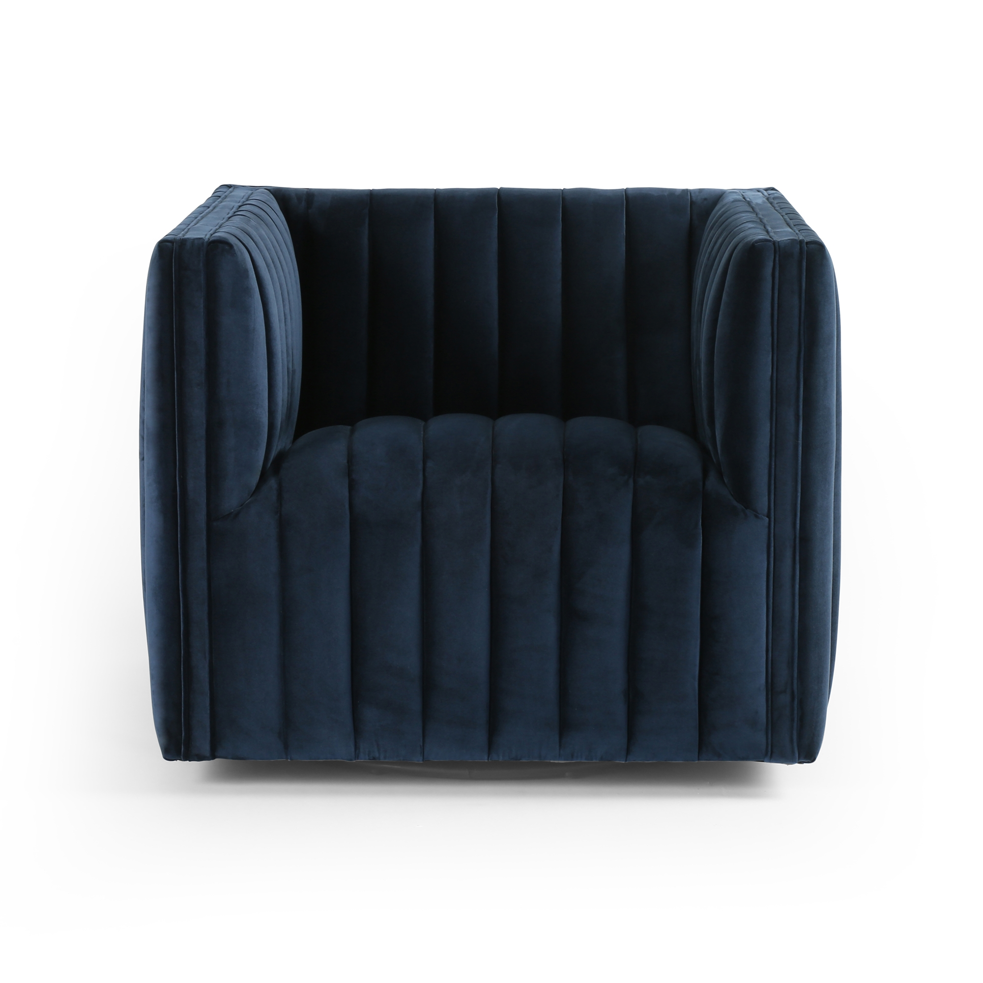 Fantastic Augustine Swivel Chair Sapphire Navy Evergreenethics Interior Chair Design Evergreenethicsorg