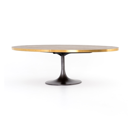 "Evan 98"" Oval Dining Table"