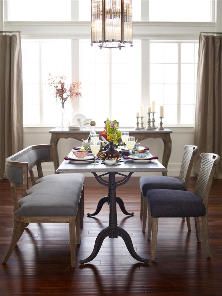 Attractive Hughes Parisian Dining Table Bluestone