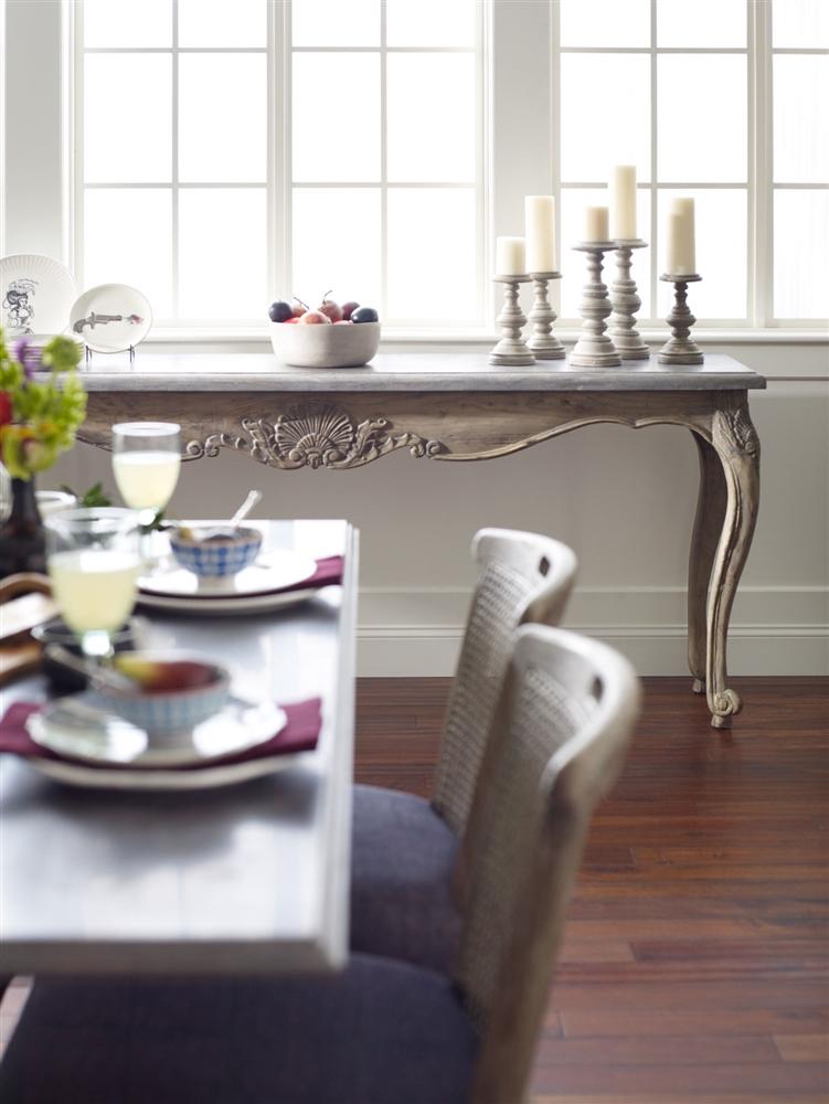 Hughes Parisian Dining Table Bluestone