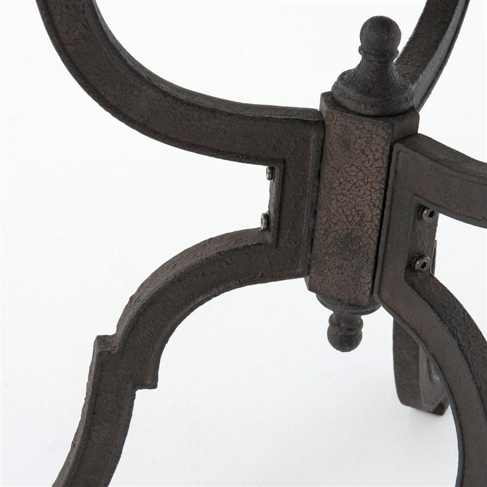 Hughes Round Bluestone Iron Bistro Pedestal Table