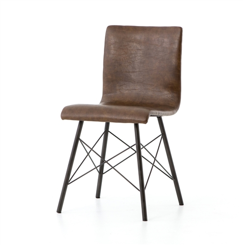 Irondale Diaw Dining Chair in Distressed Brown