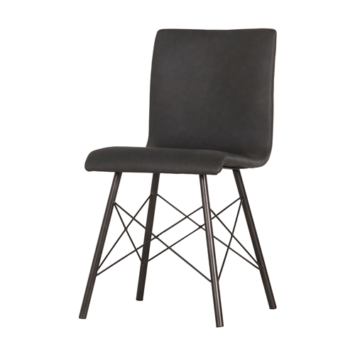 Irondale Diaw Dining Chair in Ash Black