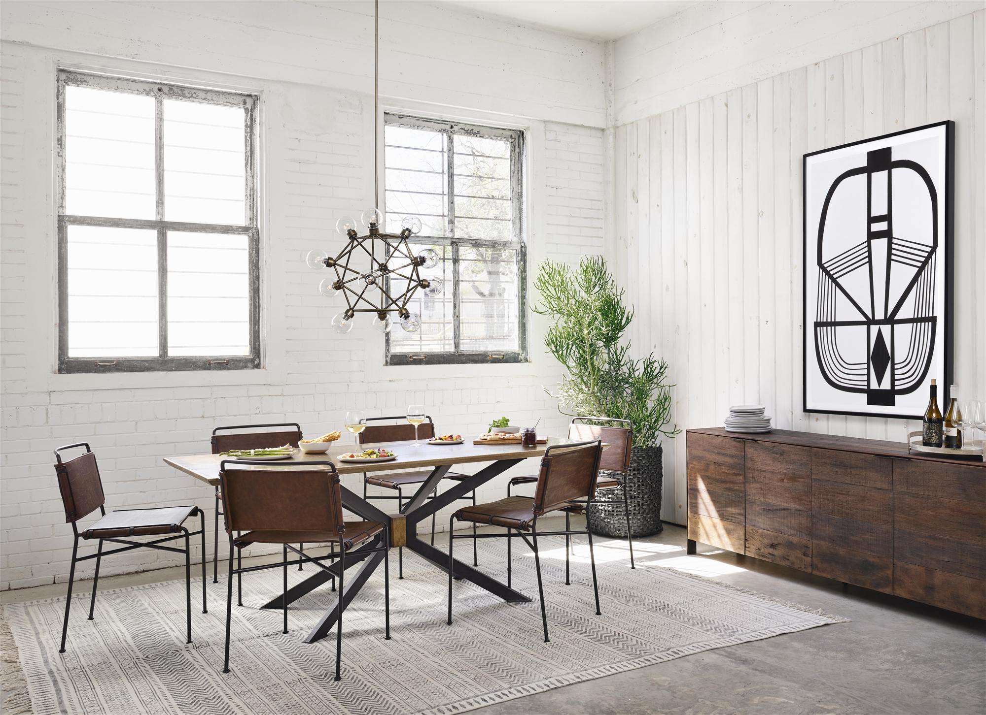 Irondale Wharton Dining Chair In Distressed Brown