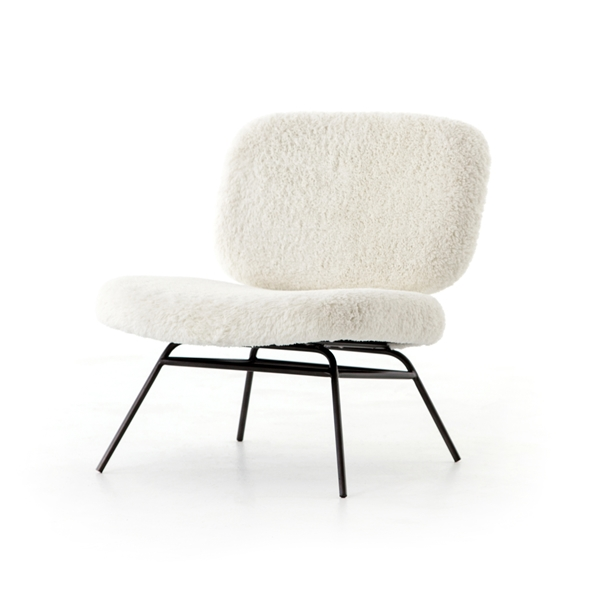 Caleb Accent Chair - Ivory Angora