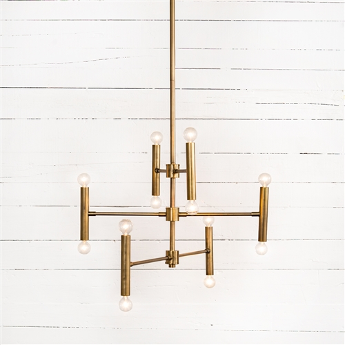 Four Hands Irondale Davina Chandelier-Brushed Brass