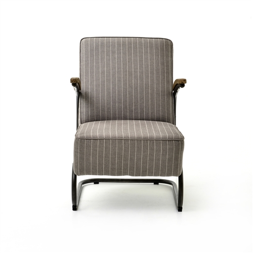 Irondale Miles Club Chair-Grey Stripe