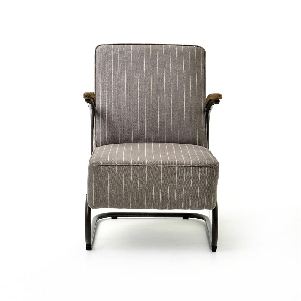 Bon Irondale Miles Club Chair Grey Stripe