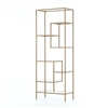 Irondale Helena Brass Bookcase 83""