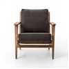 Irondale Brooks Lounge Chair-Stonewash Dark Green