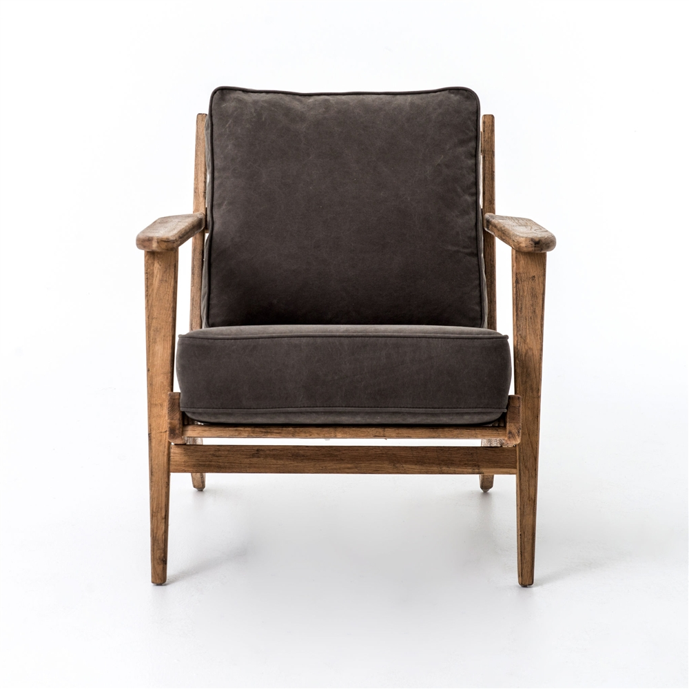 Irondale Brooks Lounge Chair In Stonewash Dark Green