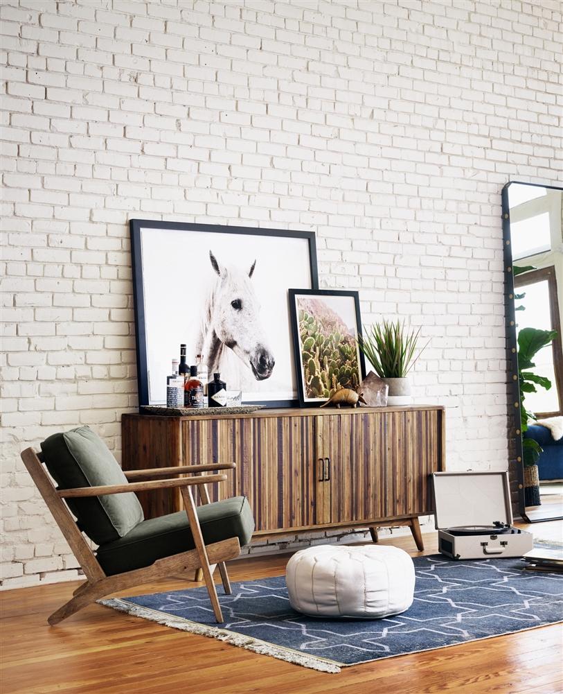 Irondale Brooks Lounge Green, The Khazana Home Austin Furniture Store