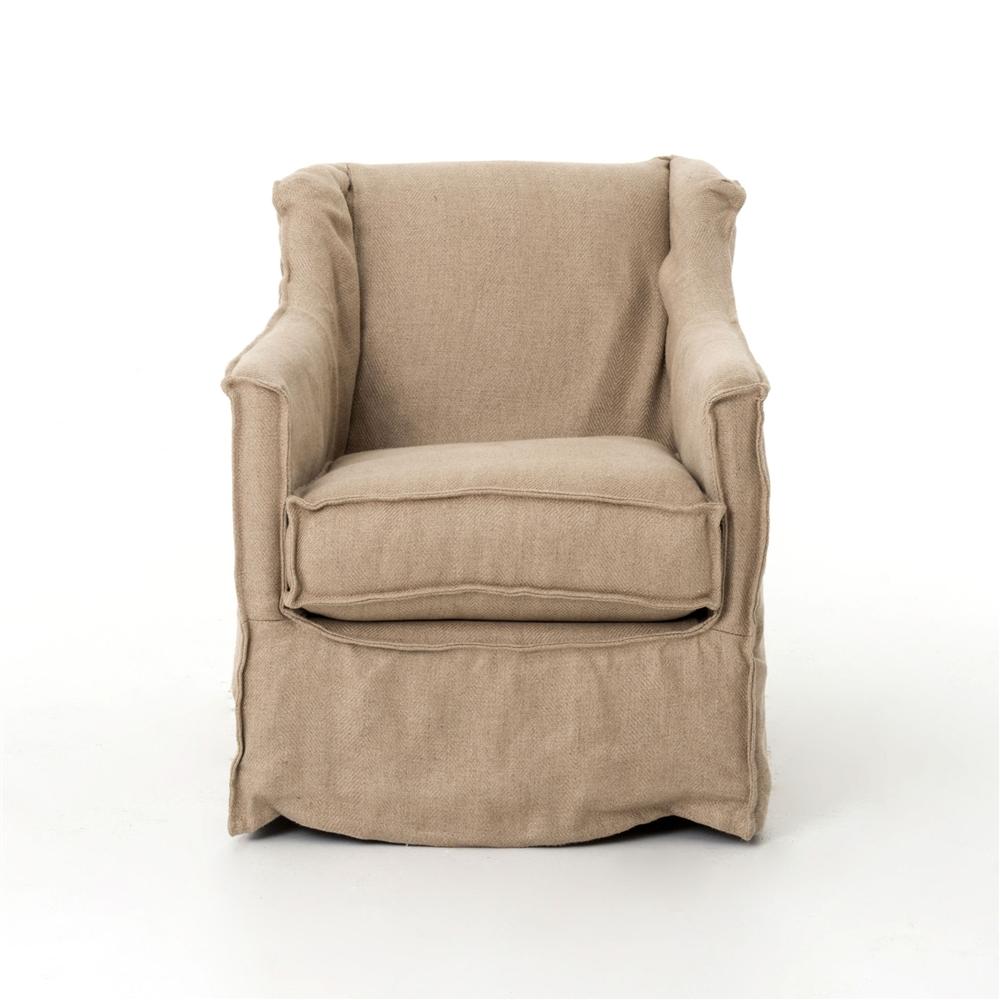 Irondale Mandy Swivel Chair Natural Hemp
