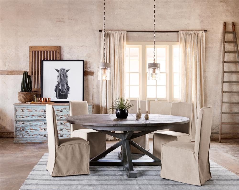 Downey Dining Chair Grey, The Khazana Home Austin Furniture Store