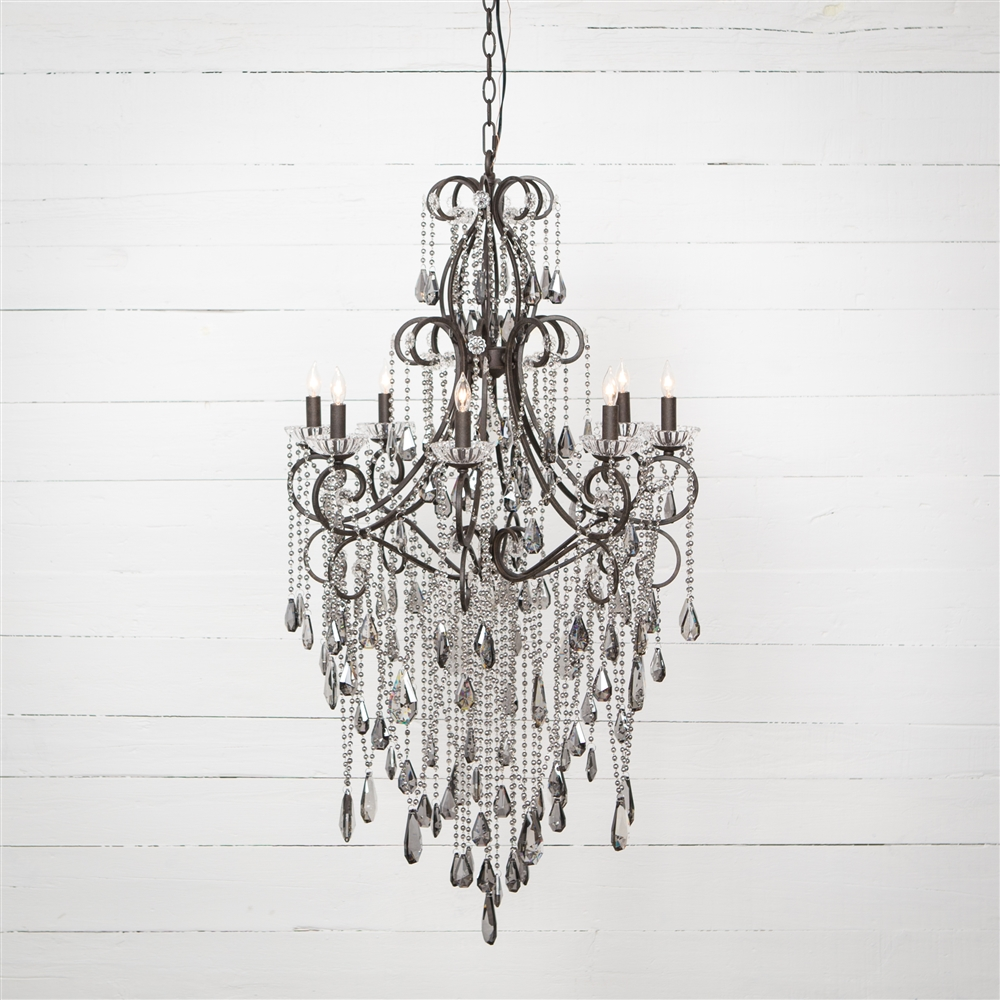 Charlotte chandelier with 8 light the khazana home austin furniture irondale charlotte chandelier with 8 light larger photo email a friend arubaitofo Image collections