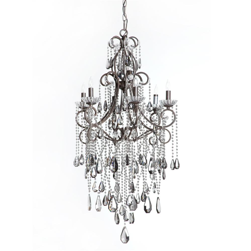 Charlotte chandelier 6 light the khazana home austin furniture store irondale charlotte chandelier mozeypictures Images