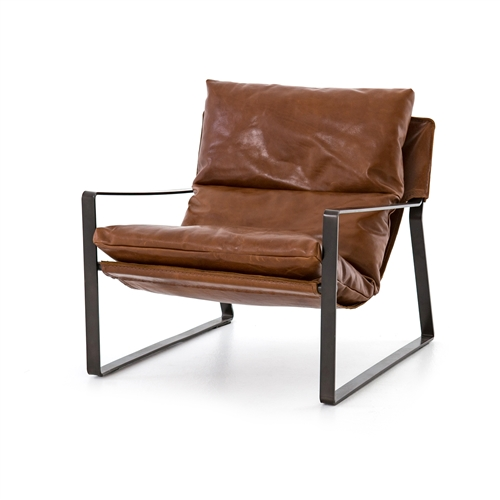 Emmet Sling Chair In Dakota Tobacco