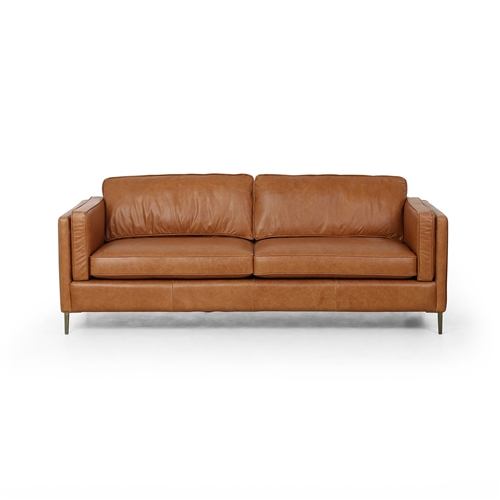 "Emery 84"" Sofa, Sonoma Butterscotch Leather"