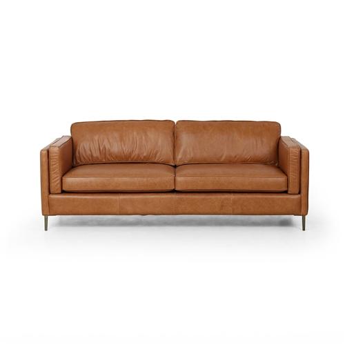 Living Room Leather Sofa, The Khazana Home Austin Furniture ...