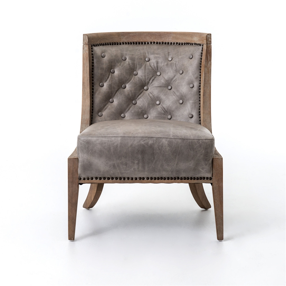Kensington Monroe Occasional Chair In Light Grey