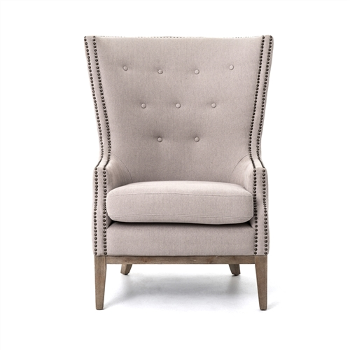 Kensington Lillian Occasional Chair-Grey Chevron