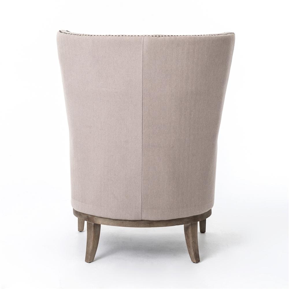 Beau Kensington Lillian Occasional Chair In Chevron Grey